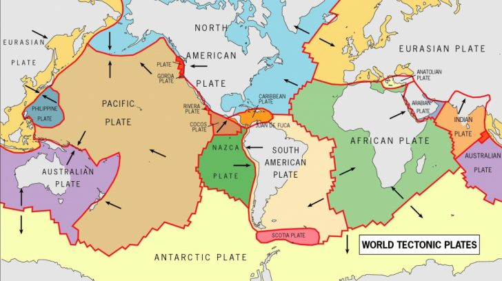 World Map Tectonic Plates Printable