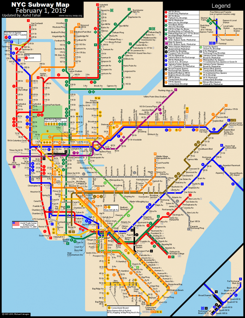 Www.nycsubway: New York City Subway Route Mapmichael Calcagno with regard to Printable New York Subway Map