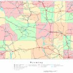 Wyoming Printable Map Intended For Wyoming State Map Printable