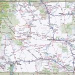 Wyoming Road Map With Printable Map Of Wyoming