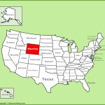 Wyoming State Maps | Usa | Maps Of Wyoming (Wy) Inside Wyoming State Map Printable
