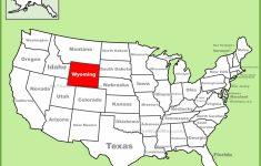 Wyoming State Map Printable