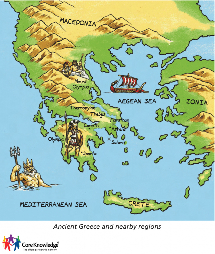 Year 3: Ancient Greece (5 Lessons) within Ancient Greece Map For Kids Printables