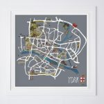 York Map Fine Art Print   Katie Cardew Illustrations Intended For York Street Map Printable