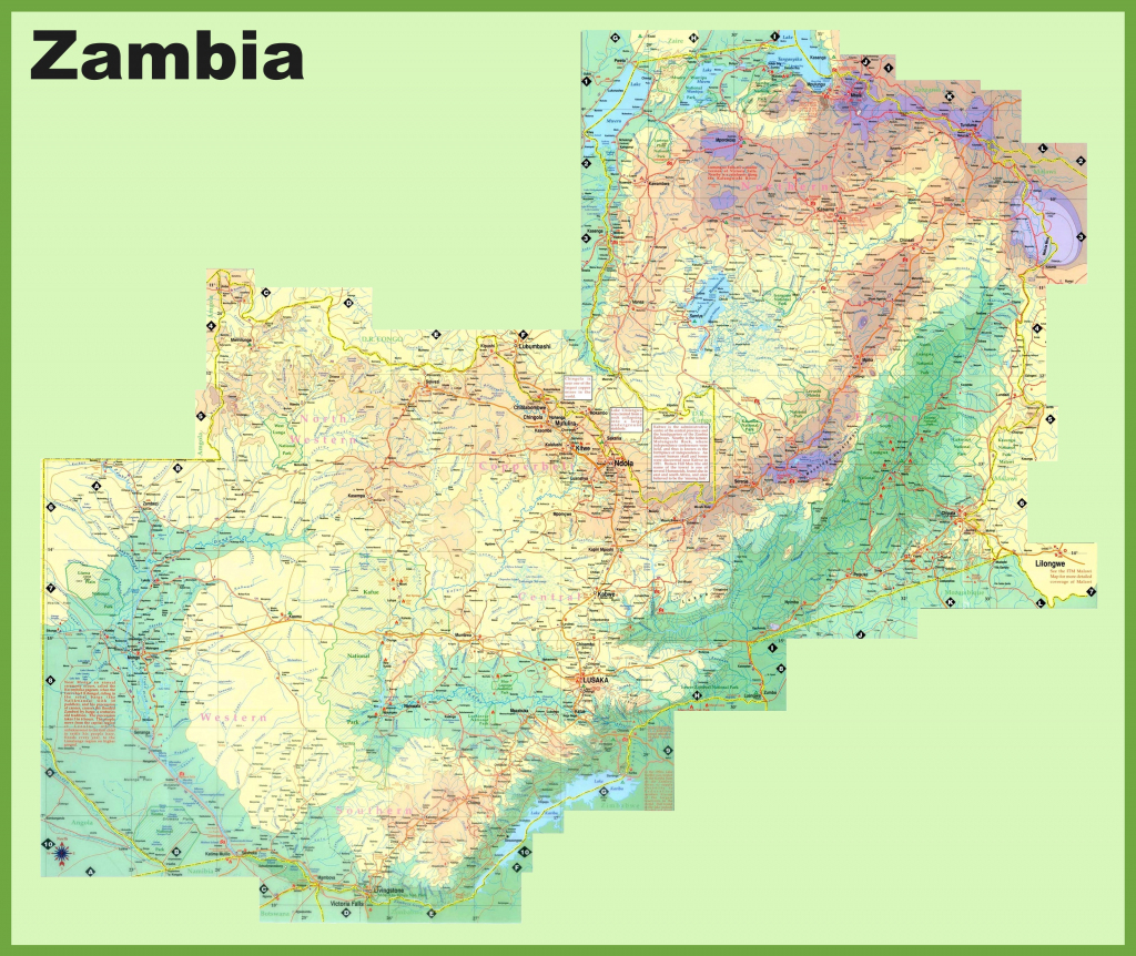 Zambia Maps | Maps Of Zambia with regard to Printable Map Of Lusaka