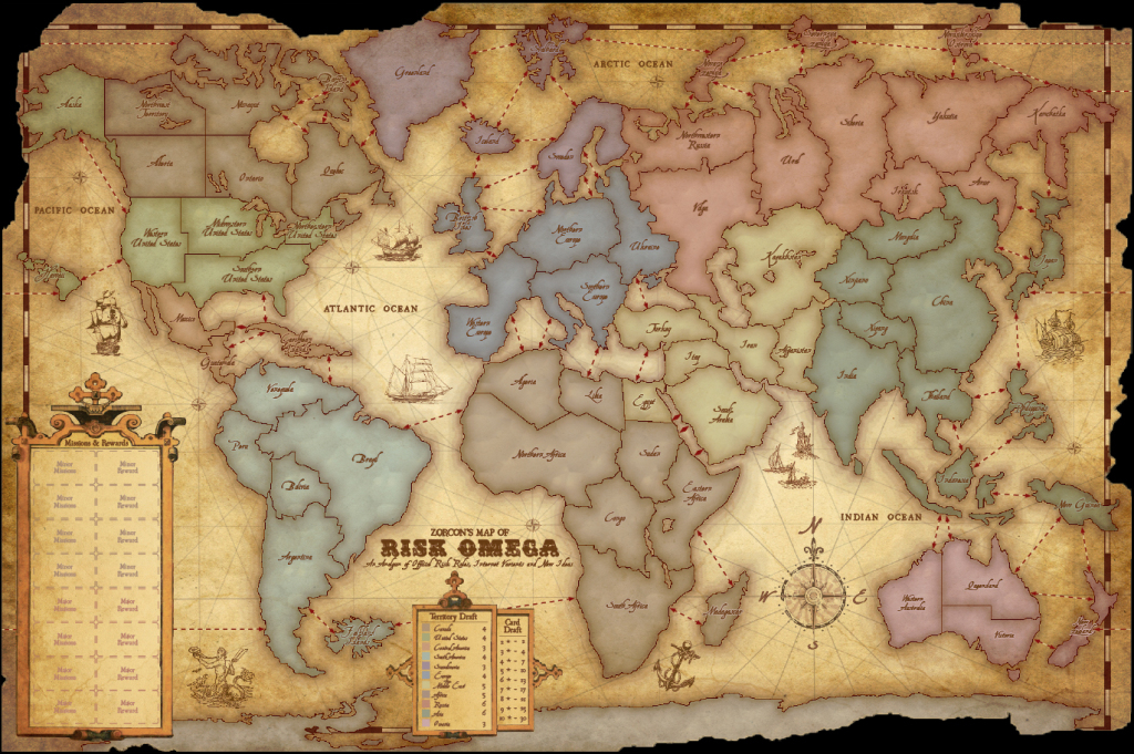Zorcon's Word: Risk: An Unexpected Journey (Part 4) with Risk Board Game Printable Map